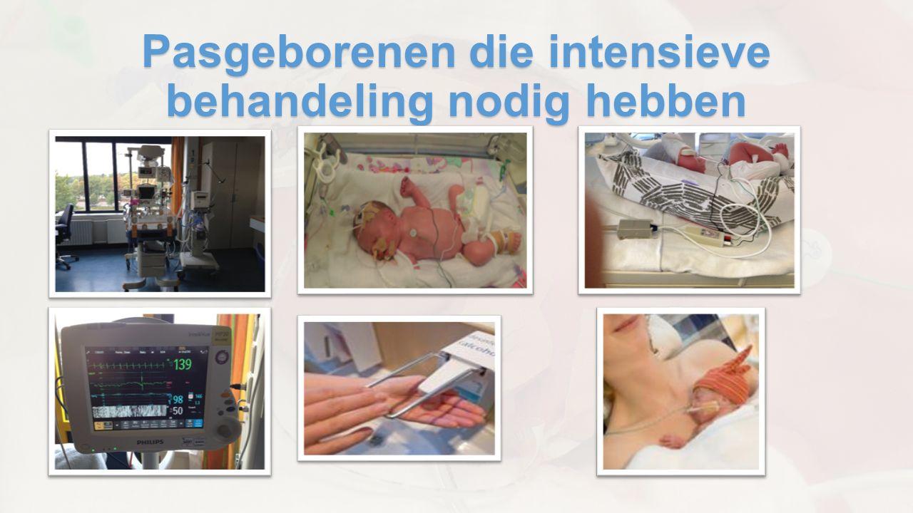 Pasgeborenen die intensieve behandeling nodig hebben
