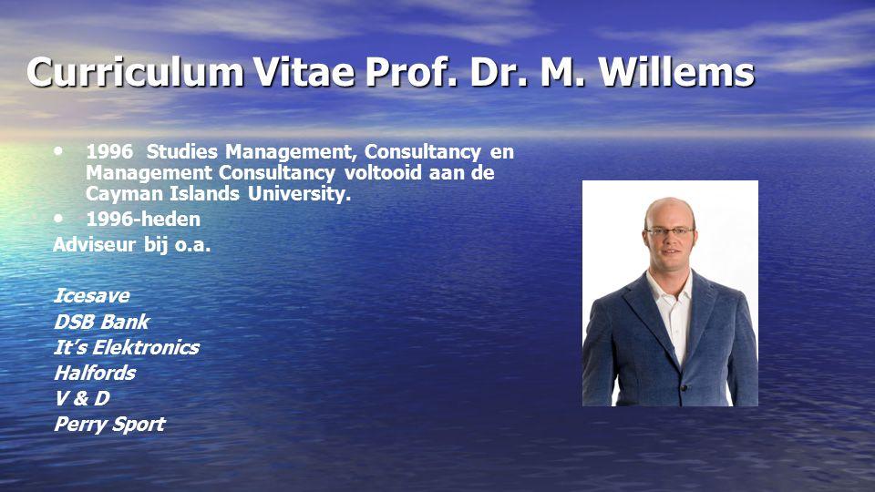 Curriculum Vitae Prof. Dr. M.