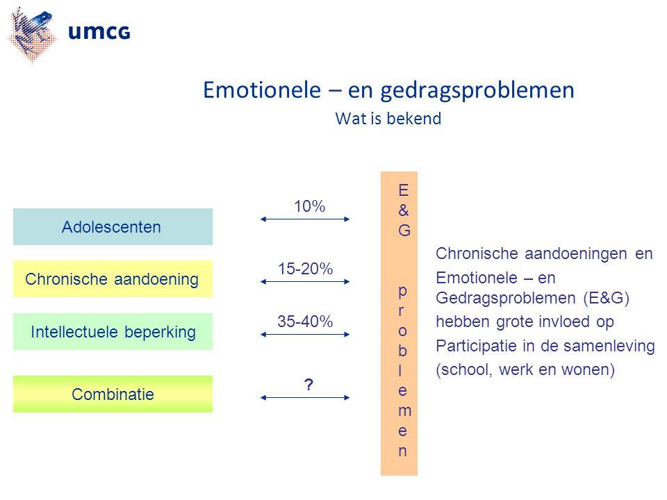 Combinatie Chronische aandoening Intellectuele beperking Adolescenten 10% 15-20% 35-40% .