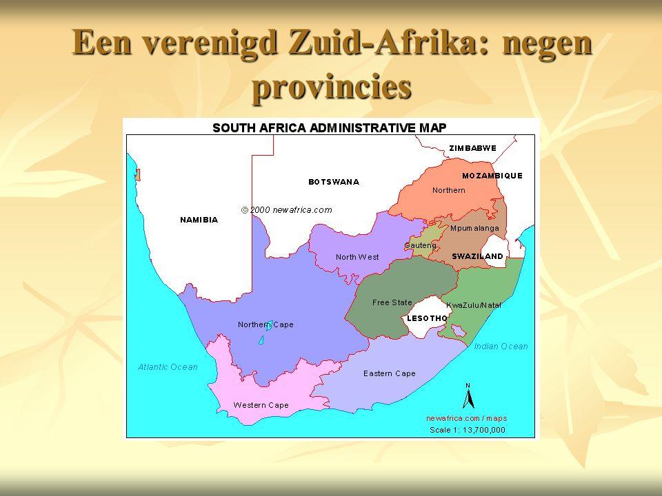 Een verenigd Zuid-Afrika: negen provincies