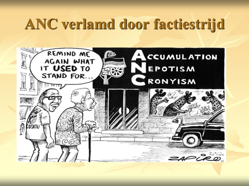 ANC verlamd door factiestrijd