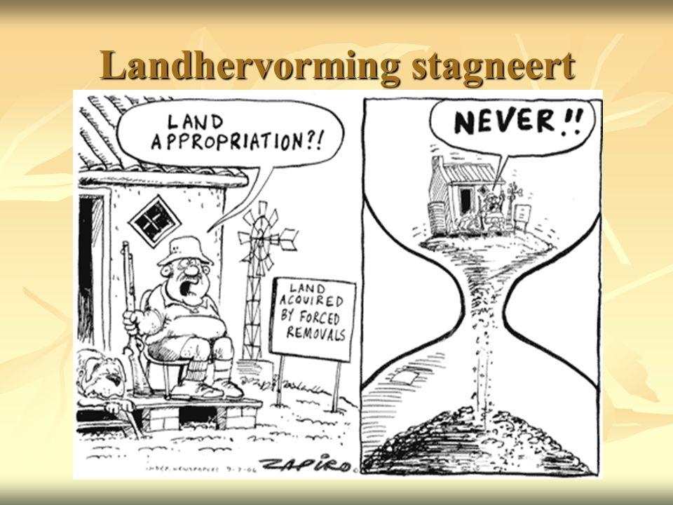 Landhervorming stagneert