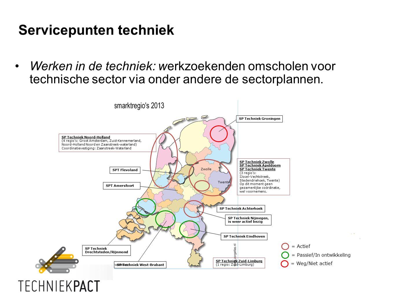 Werken in de techniek: werkzoekenden omscholen voor technische sector via onder andere de sectorplannen.