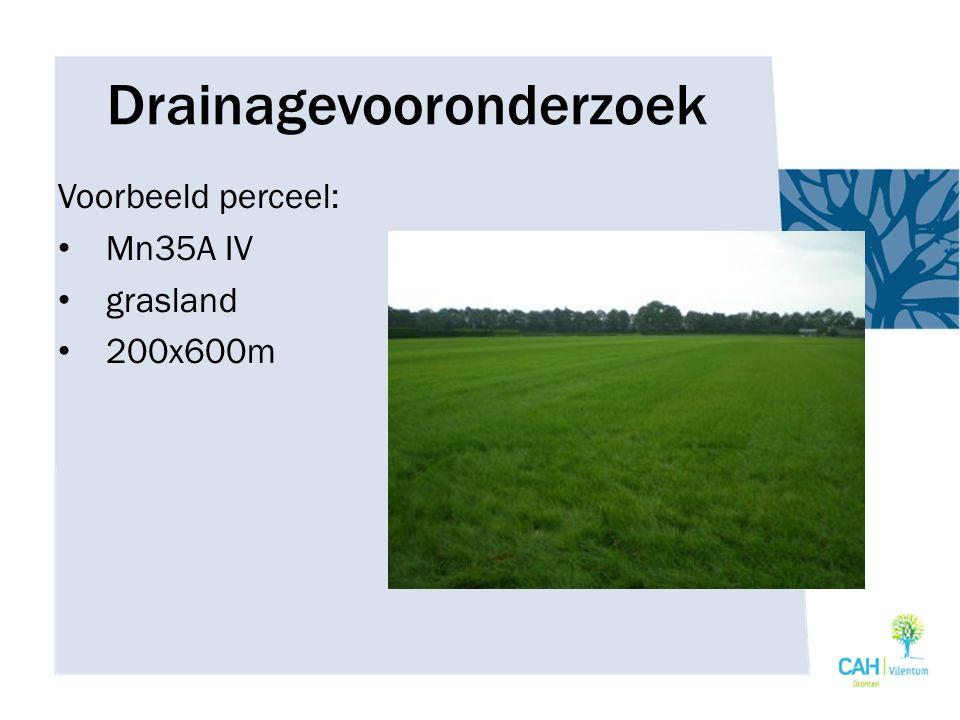 Drainagevooronderzoek Voorbeeld perceel: Mn35A IV grasland 200x600m