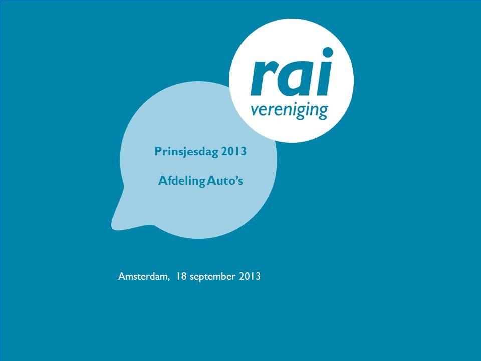 Prinsjesdag 2013 Afdeling Auto's Amsterdam, 18 september 2013