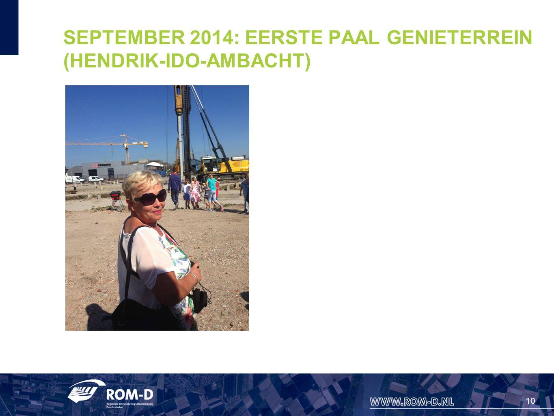 10 SEPTEMBER 2014: EERSTE PAAL GENIETERREIN (HENDRIK-IDO-AMBACHT)