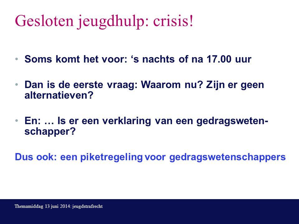 Gesloten jeugdhulp: crisis.