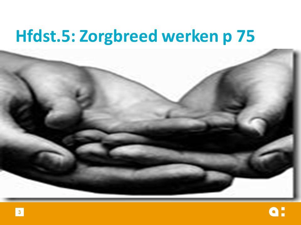 3 Hfdst.5: Zorgbreed werken p 75