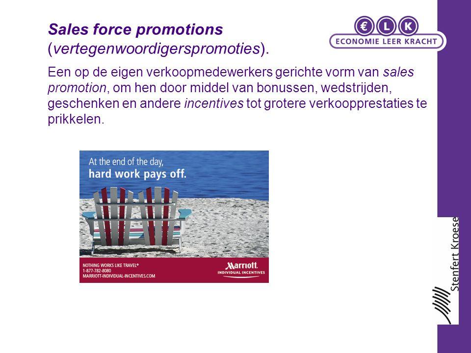 Een op de eigen verkoopmedewerkers gerichte vorm van sales promotion, om hen door middel van bonussen, wedstrijden, geschenken en andere incentives tot grotere verkoopprestaties te prikkelen.