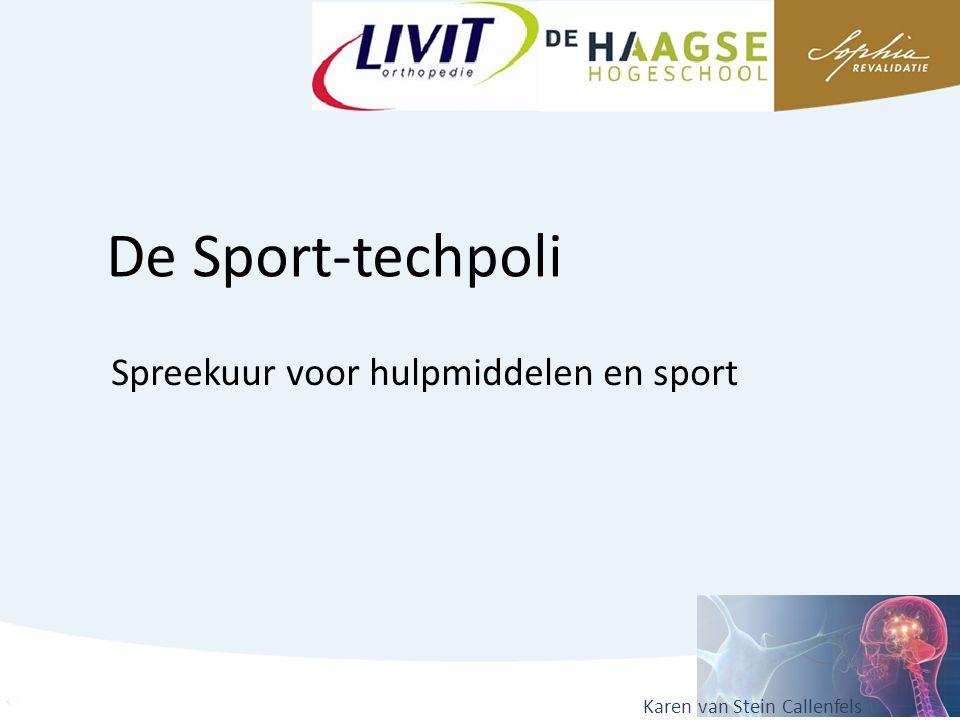 Doel Het faciliteren van sportdeelname voor mensen met een beperking, door het verzorgen van technische hulpmiddelen en/of het geven van adviezen hierover.