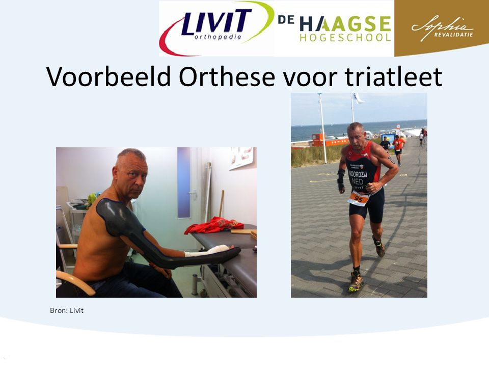 Voorbeeld Orthese voor triatleet Bron: Livit
