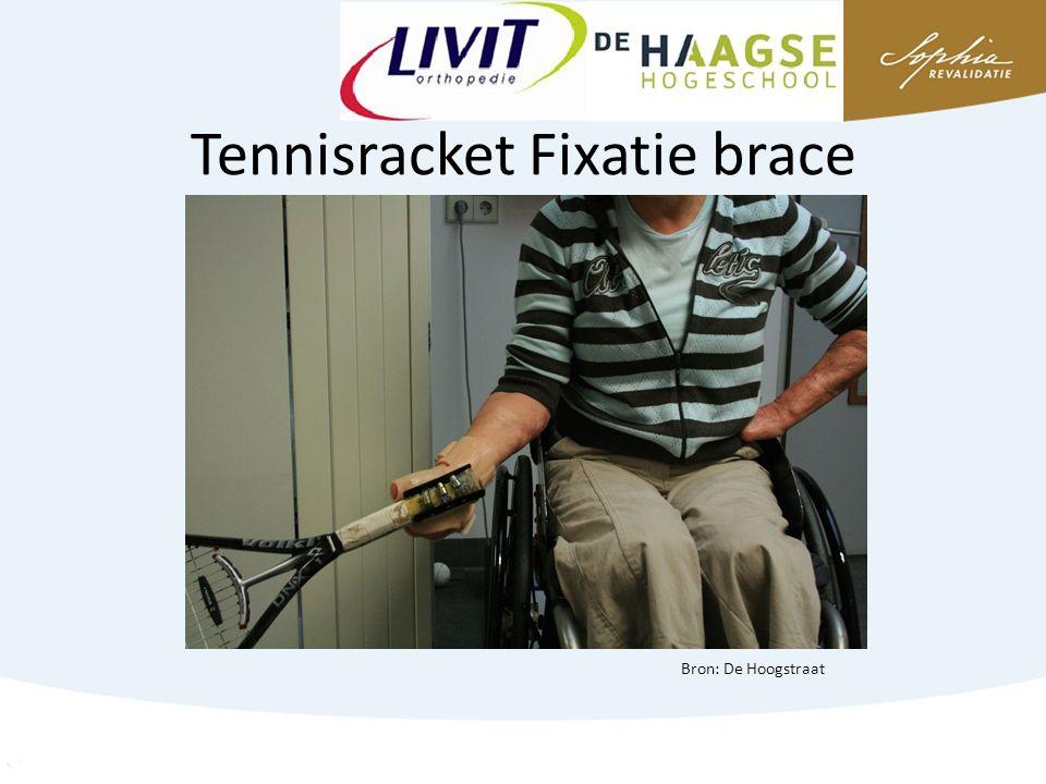 Tennisracket Fixatie brace Bron: De Hoogstraat