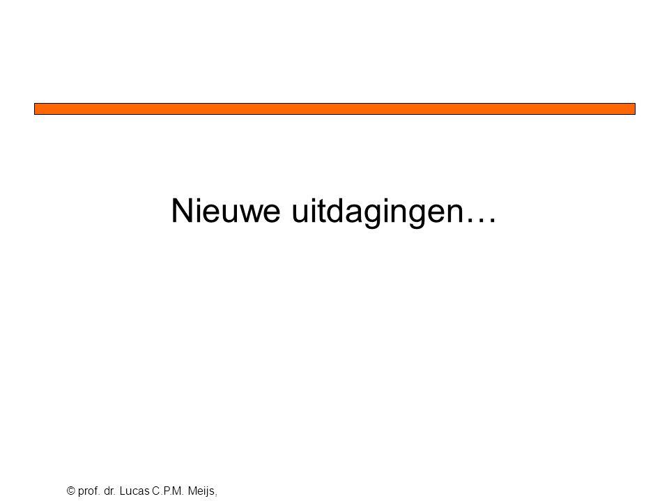 © prof. dr. Lucas C.P.M. Meijs, Nieuwe uitdagingen…