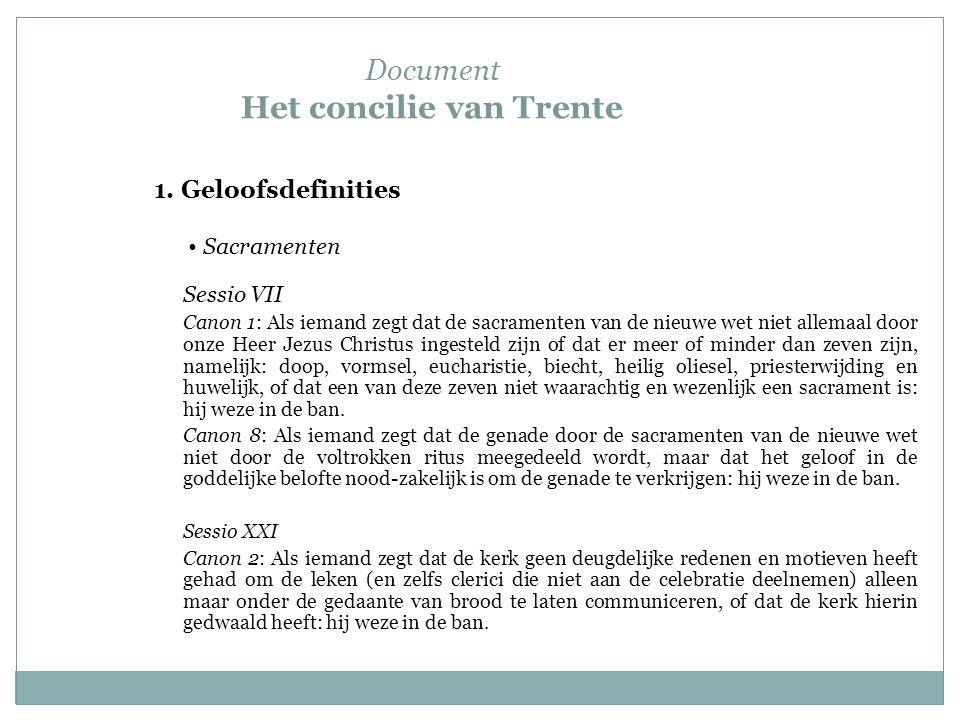Document Het concilie van Trente 1.