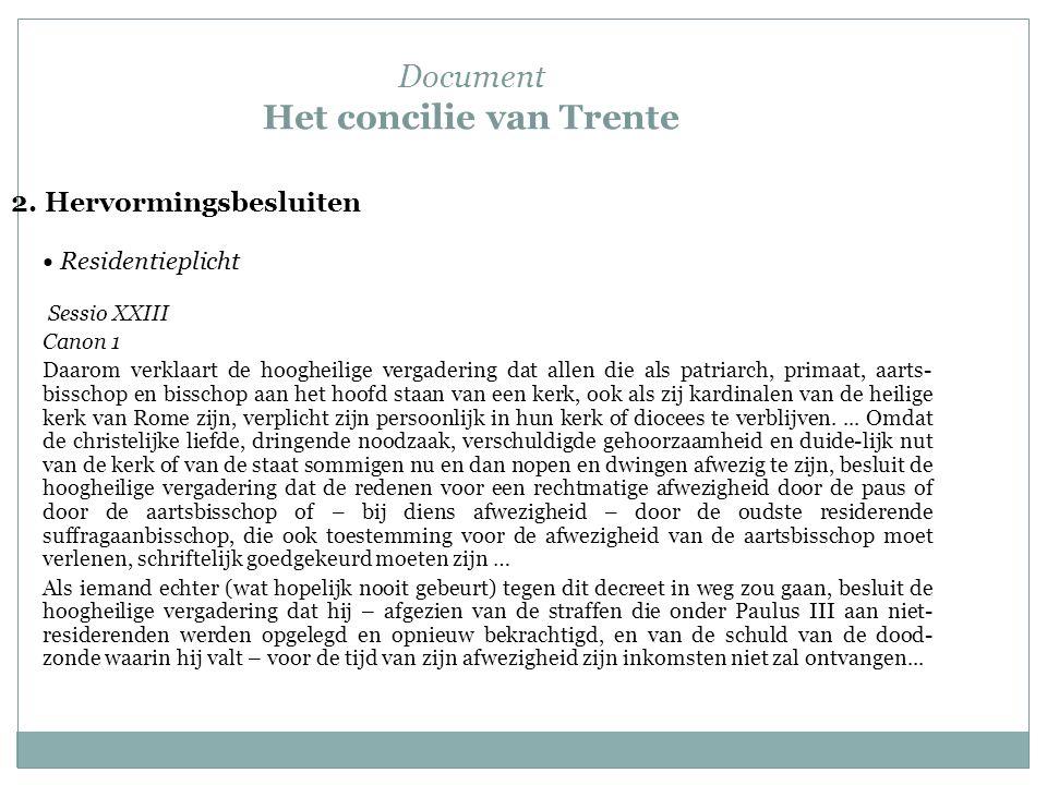 Document Het concilie van Trente 2.