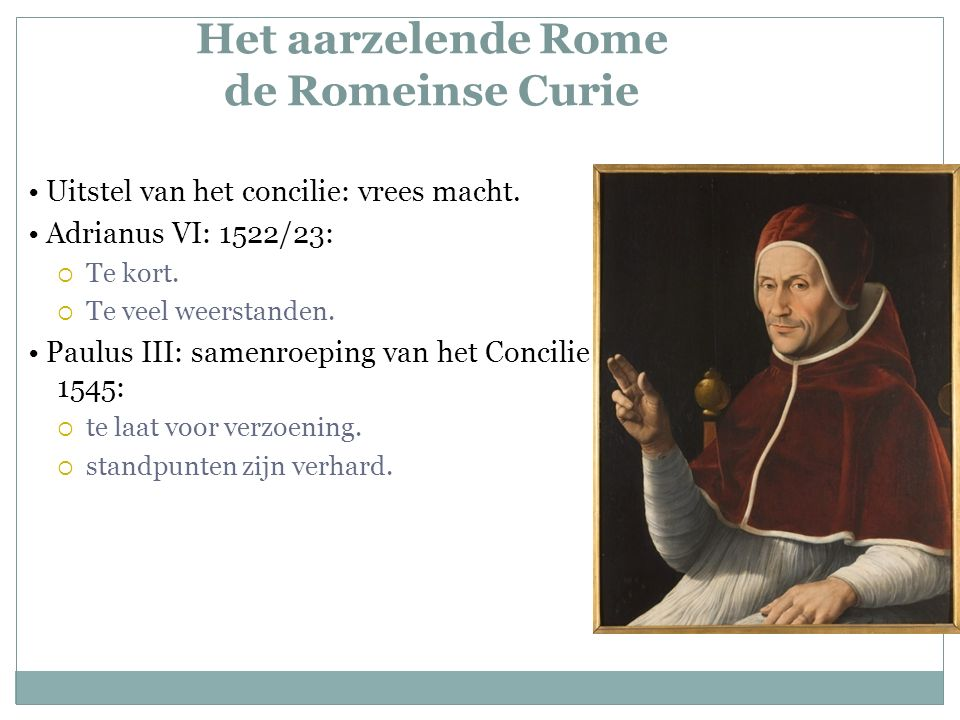 Het aarzelende Rome de Romeinse Curie Uitstel van het concilie: vrees macht.