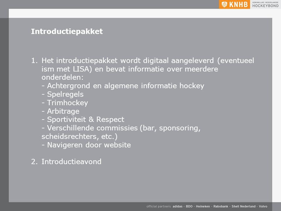 Introductiepakket 1.Het introductiepakket wordt digitaal aangeleverd (eventueel ism met LISA) en bevat informatie over meerdere onderdelen: - Achtergr