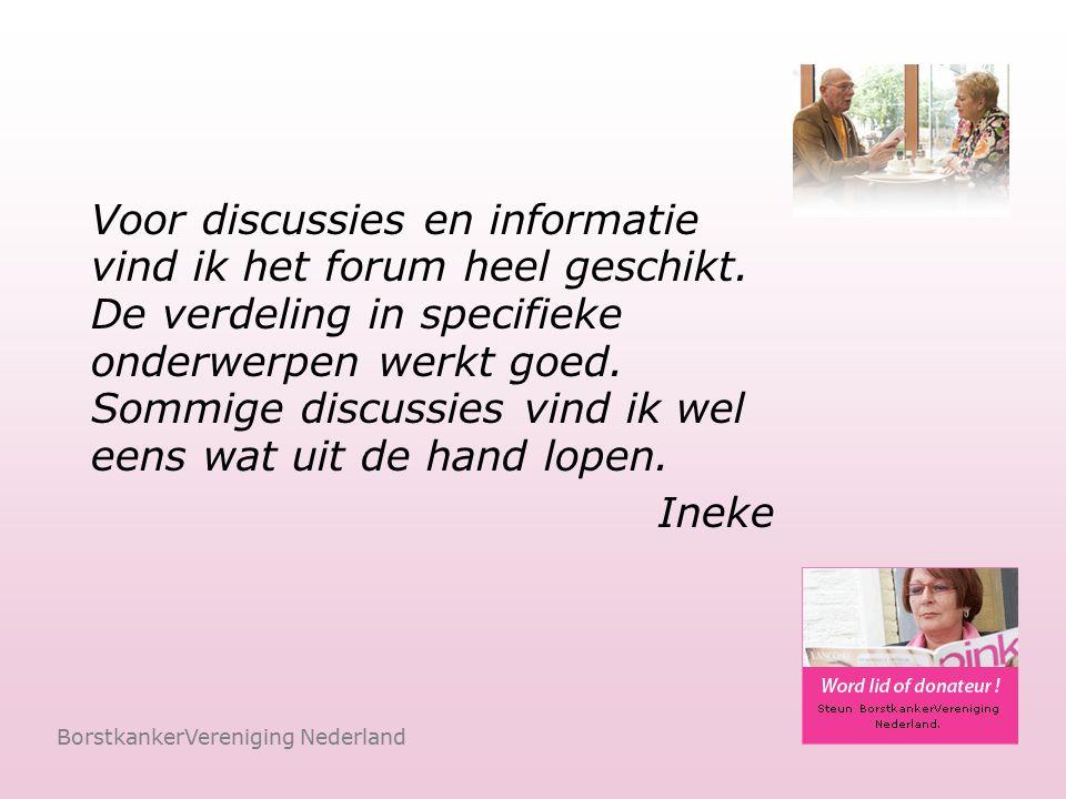 De Chatroom BorstkankerVereniging Nederland