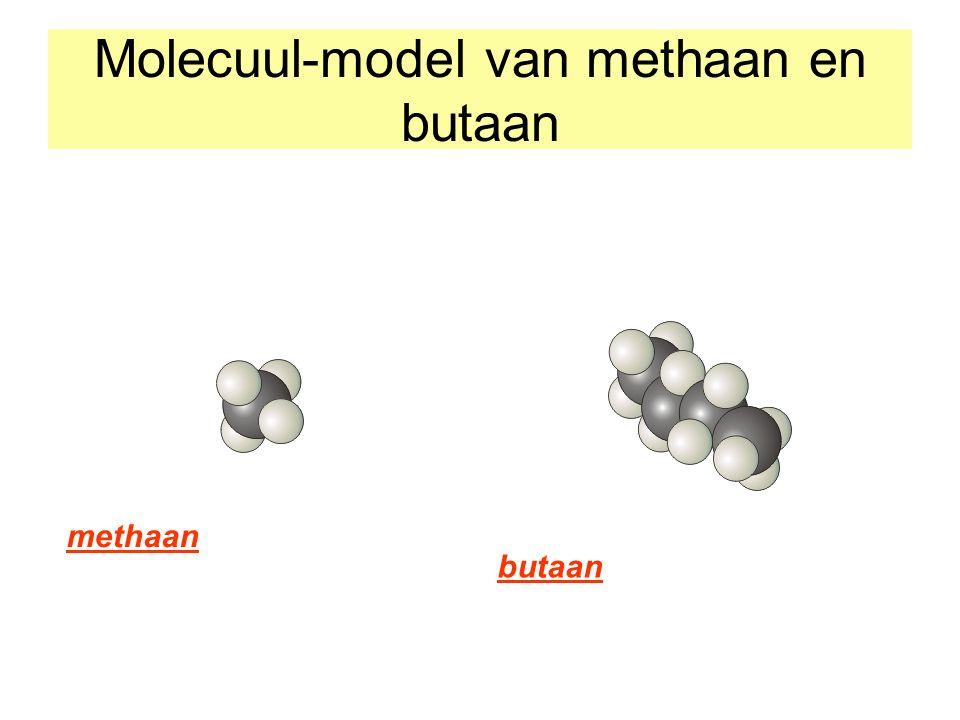Molecuul-model van methaan en butaan methaan butaan