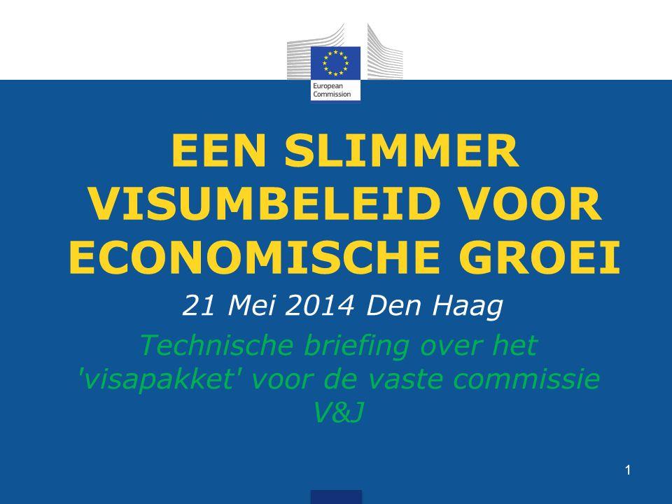 EEN SLIMMER VISUMBELEID VOOR ECONOMISCHE GROEI 21 Mei 2014 Den Haag Technische briefing over het visapakket voor de vaste commissie V&J 1