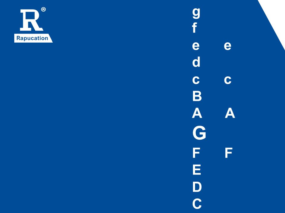 g f e e d c c B A A G F F E D C