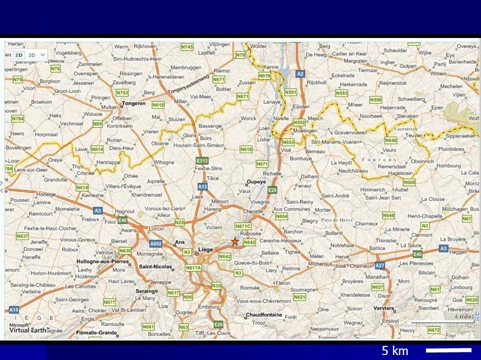 2° reeks gegevens de snelheid van het Maaswater bedraagt 4m/s.