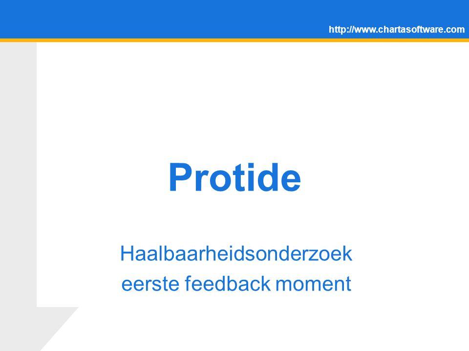 http://www.chartasoftware.com Protide Haalbaarheidsonderzoek eerste feedback moment