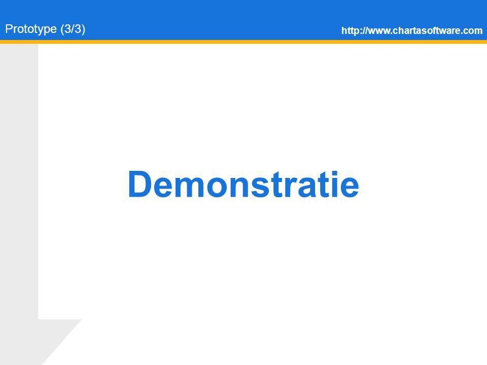 http://www.chartasoftware.com Prototype (3/3) Demonstratie