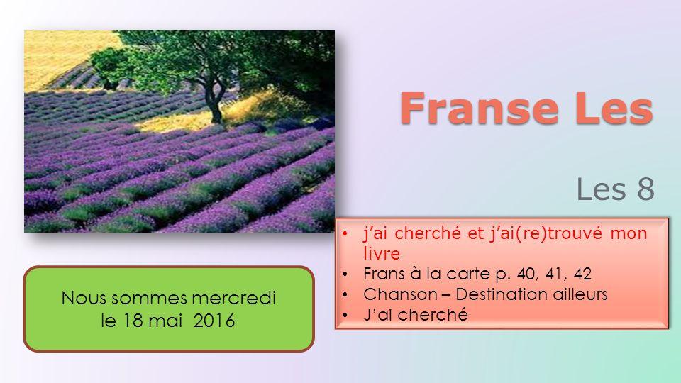 Franse Les j'ai cherché et j'ai(re)trouvé mon livre Frans à la carte p.