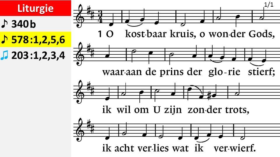 Liturgie ♪ 340b ♪ 578:1,2,5,6 ♫ 203:1,2,3,4 1/1