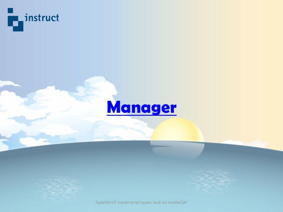 Manager TypeWorld maakt leren typen leuk en makkelijk!