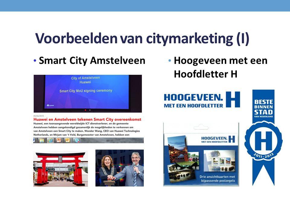 Voorbeelden van citymarketing (I) Smart City Amstelveen Hoogeveen met een Hoofdletter H