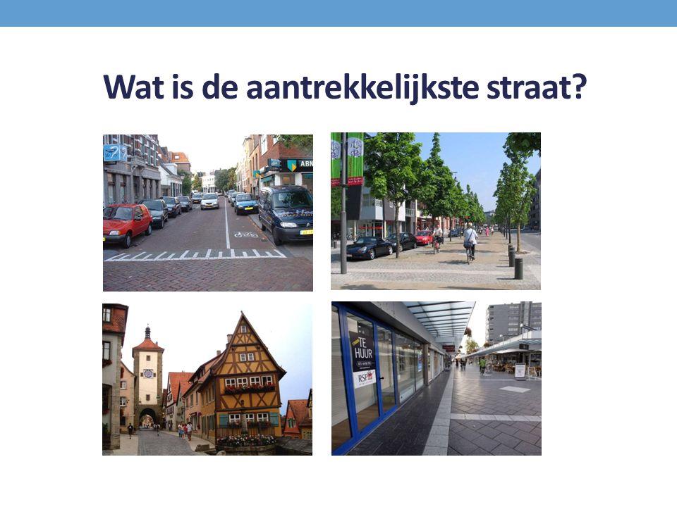 Wat is de aantrekkelijkste straat?