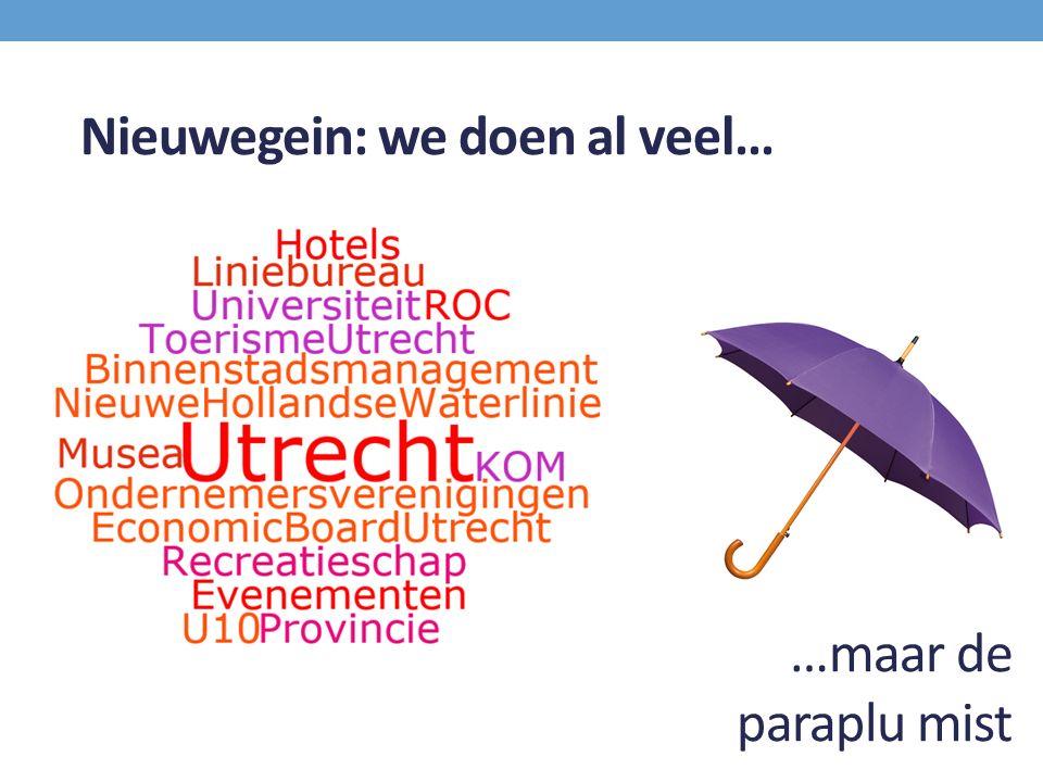 …maar de paraplu mist Nieuwegein: we doen al veel…