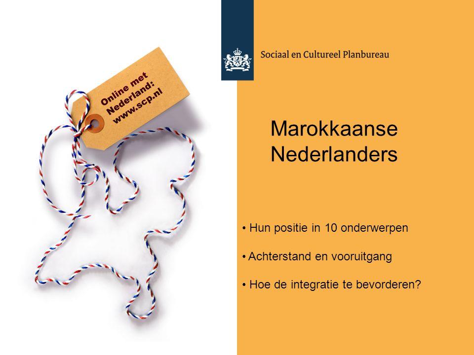 Marokkaanse Nederlanders Hun positie in 10 onderwerpen Achterstand en vooruitgang Hoe de integratie te bevorderen