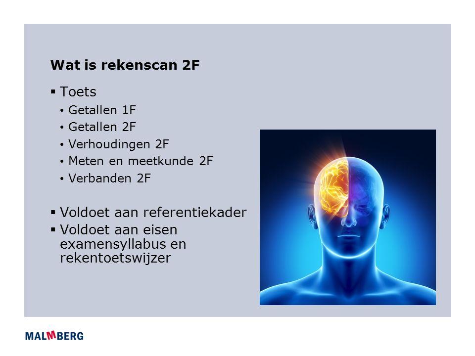 Maken: blauwdruk rekenscan  Getallen 2F  Referentiekader/syllabus 2F/rekentoetswijzer 2F:  Binnen een situatie het resultaat van een berekening op juistheid controleren: Totaal betaald aan huur per jaar €43,683 klopt dat wel?