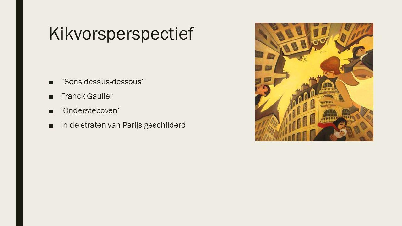 """Kikvorsperspectief ■""""Sens dessus-dessous"""" ■Franck Gaulier ■'Ondersteboven' ■In de straten van Parijs geschilderd"""