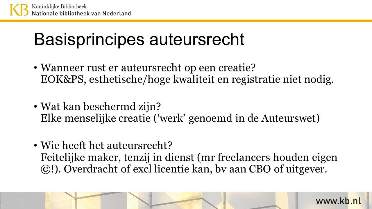 Herziening auteursrecht in EU 2016 Auteursrechtrichtlijn uit 2001, aanpassing gewenst.