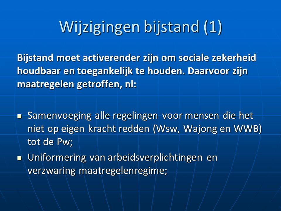 Wijzigingen bijstand (1) Bijstand moet activerender zijn om sociale zekerheid houdbaar en toegankelijk te houden.