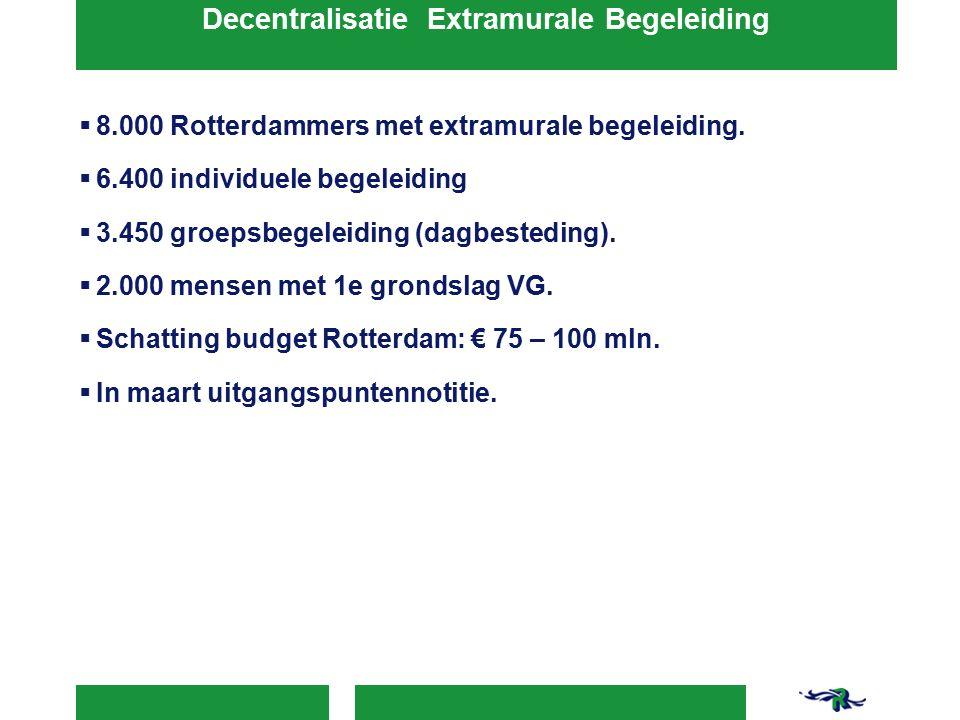  8.000 Rotterdammers met extramurale begeleiding.