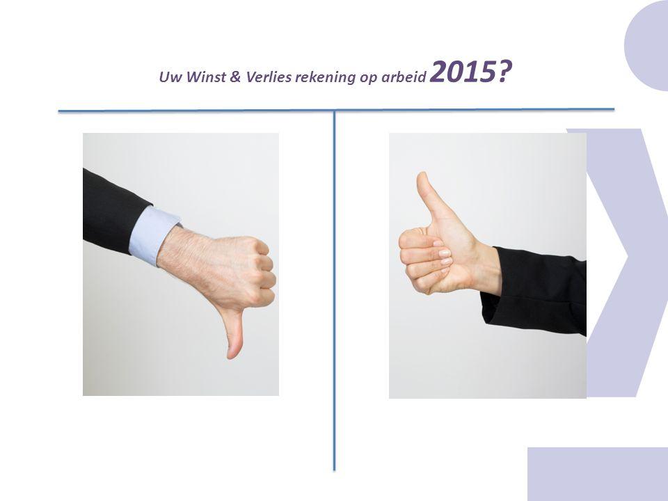 Uw Winst & Verlies rekening op arbeid 2015?
