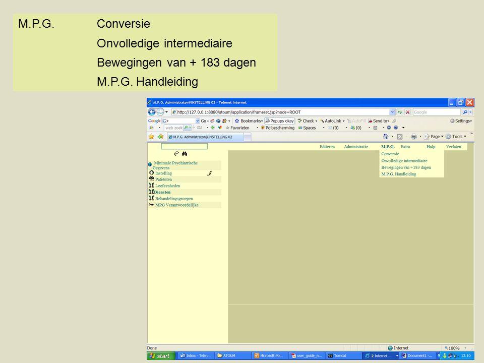 M.P.G.Conversie Onvolledige intermediaire Bewegingen van + 183 dagen M.P.G. Handleiding