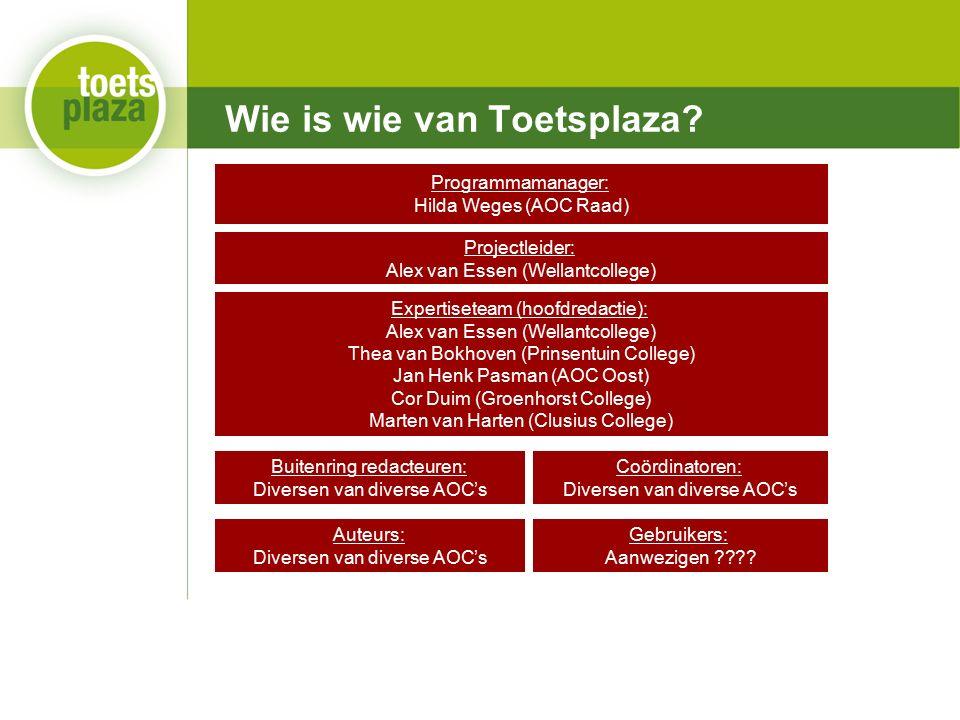 Expertiseteam Toetsenbank Wie is wie van Toetsplaza.