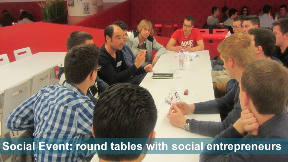 Social Event: round tables with social entrepreneurs