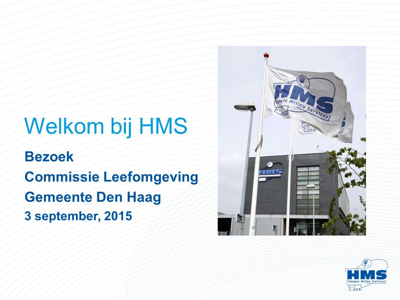 Welkom bij HMS Bezoek Commissie Leefomgeving Gemeente Den Haag 3 september, 2015