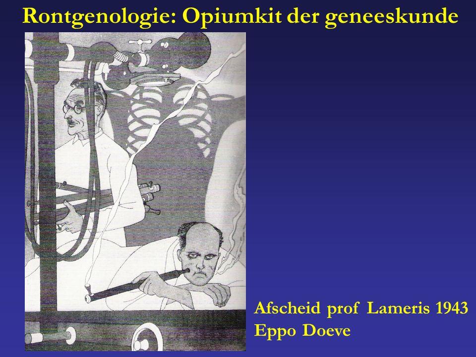 Afscheid prof Lameris 1943 Eppo Doeve Rontgenologie: Opiumkit der geneeskunde