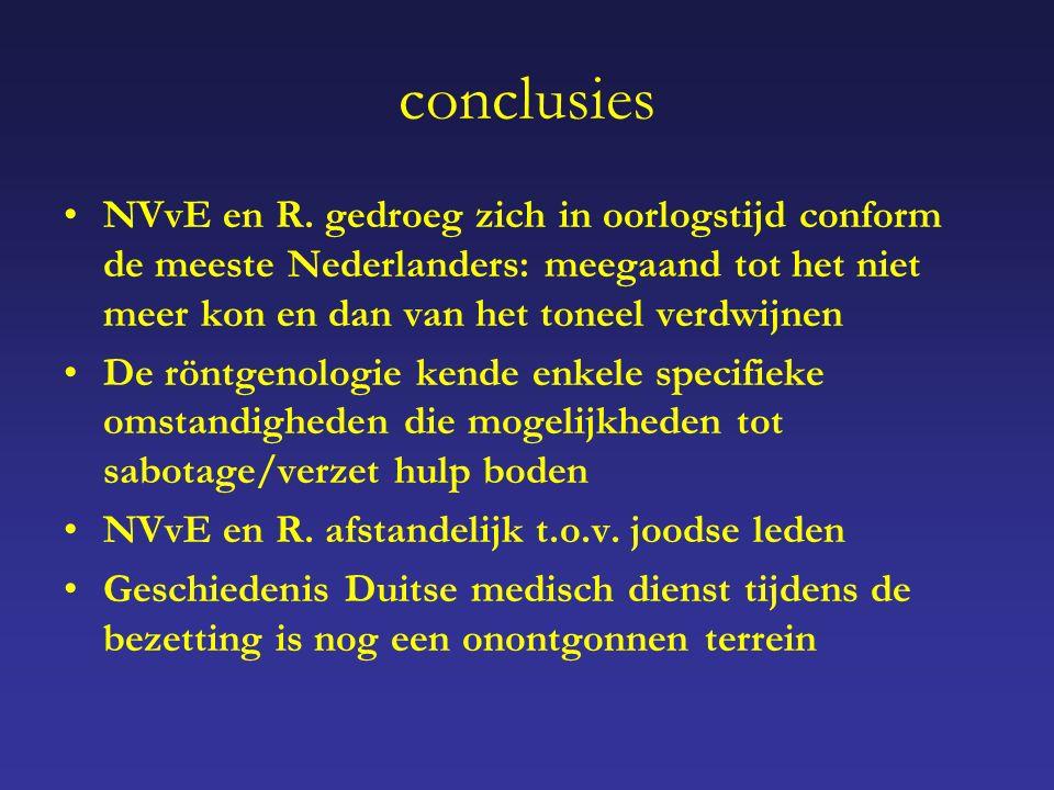 conclusies NVvE en R.