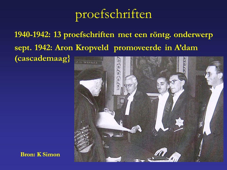 proefschriften 1940-1942: 13 proefschriften met een röntg.