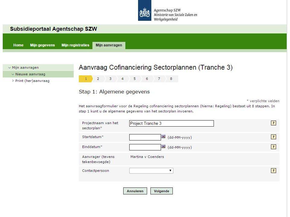 TOELICHTINGEN BIJ STAP 6 (2 van 2) Toelichting Totale cofinanciering Dit is het totaal bedrag aan cofinanciering dat door u wordt aangevraagd.