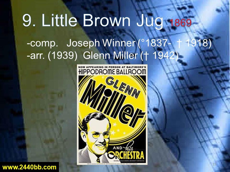 -comp. Joseph Winner (°1837- † 1918) -arr. (1939) Glenn Miller († 1942) 15 www.2440bb.com